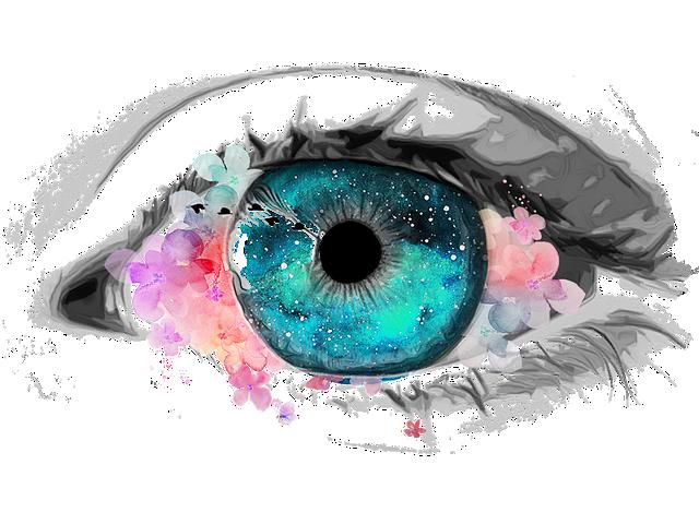 cyan color iris
